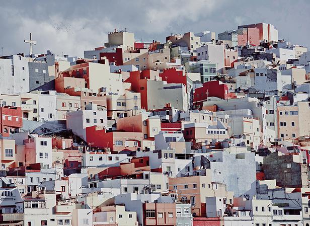 Farbvolle Häuser auf Las Palmas de Gran Canaria
